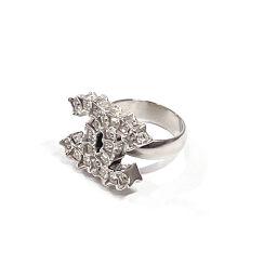 CHANEL Ring / Ring Coco Mark / Rhinestone 7785 Silver [Used] Ladies
