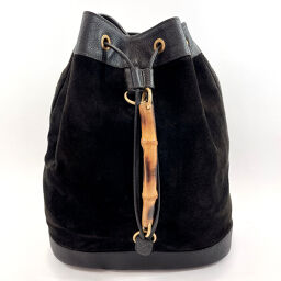 GUCCI Gucci rucksack daypack 0032855 Bamboo suede / leather black [used] ladies
