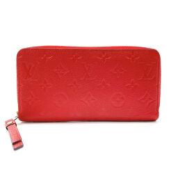LOUIS VUITTON Louis Vuitton Long Wallet M61865 Zippy Wallet Monogram Amplant Red [Used] Ladies