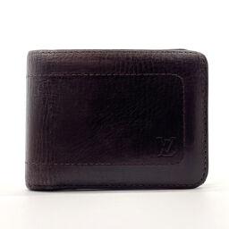 LOUIS VUITTON Louis Vuitton Bi-Fold Wallet M92074 Portobier 6 Cult Credit Utah Leather Dark Brown [Used] Men's