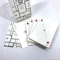 CHANEL シャネル ノベルティ トランプ  紙 ホワイト【中古】 ユニセックス