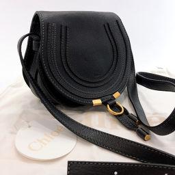 Chloe Chloe Mercy 3P0580-161 Shoulder Bag Leather Black [Used] Ladies