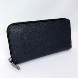 COACH コーチ 長財布 58107 レザー ネイビー シルバー金具【中古】 メンズ