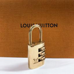 LOUIS VUITTON ルイヴィトン カデナ ダイヤル式パドロック 南京錠 真鍮 ゴールド【中古】 ユニセックス