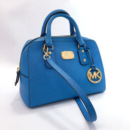 Michael Kors Michael Kors Shoulder Bag 35S3GSAS1L Small Satchel PVC / Gold Hardware Blue [Used] Ladies