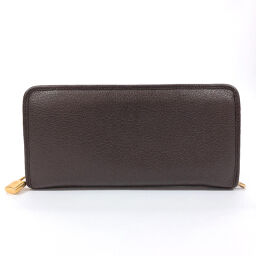LOEWE Loewe Long Wallet 174.06.F13 Zippy Wallet Calf Brown [Used] Ladies