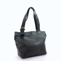 COACH Coach Tote Bag Old Coach Leather Black [Used] Ladies
