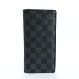 LOUIS VUITTON Louis Vuitton Long Wallet N62665 Portofeuil Braza Damier Graffit Canvas Black [Used] Men's