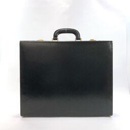 BALLY バリー ビジネスバッグ アタッシュケース ダイヤルロック レザー ブラック ゴールド金具【中古】 メンズ