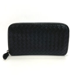 BOTTEGAVENETA Bottega Veneta long wallet round fastener intrecciato leather black [used] men's
