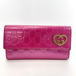 GUCCI Gucci Long Wallet 251861 Lovely GG Shima Patent Leather Pink [Used] Ladies