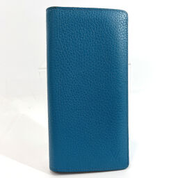 LOUIS VUITTON Louis Vuitton Long Wallet M58193 Portofeuil Brothers Parnacea Blue Silver Hardware [Used] Men's