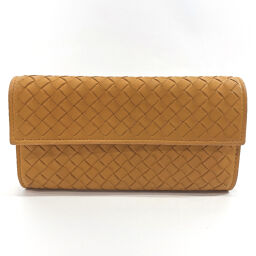 BOTTEGA VENETA Long wallet Intrecciato Leather Yellow [Used] Ladies