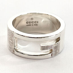 GUCCI Gucci Ring / Ring Branded Regular G Silver 925 9 Silver [Used] Ladies