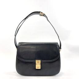 CELINE Celine Shoulder Bag Vintage Leather Black [Used] Ladies