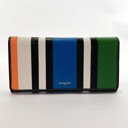 BALENCIAGA Balenciaga Long Wallet 443654 Bazaar Money Leather Multicolor [Used] Ladies
