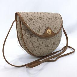 Christian Dior Christian Dior Shoulder Bag Vintage PVC / Leather Beige Brown [Used] Ladies