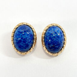Dior Dior Earrings Metal / Stone Blue Gold [Used] Ladies