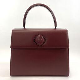 CARTIER Cartier Handbag Mastline Turn Lock Leather Bordeaux [Used] Ladies