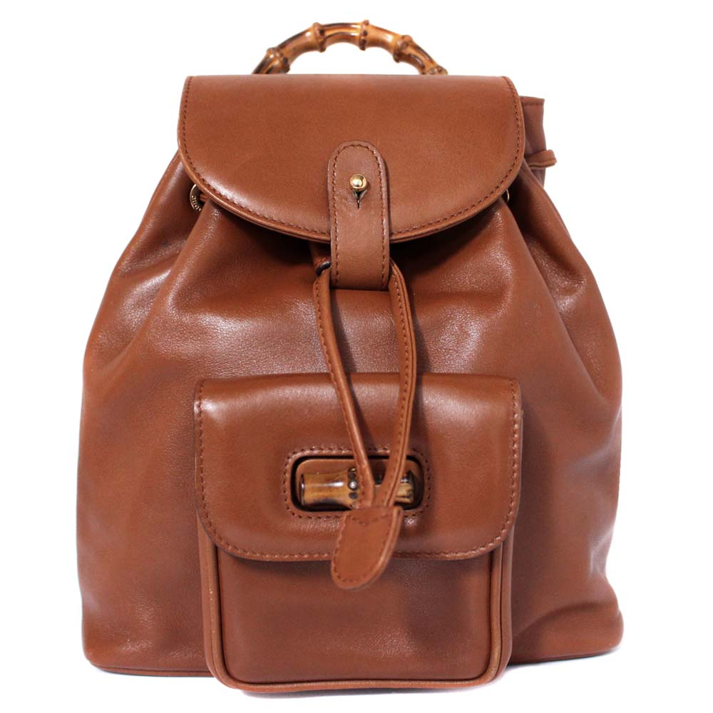 Details about GUCCI 003 · 2852 · 0030 Bamboo Mini Rucksack Backpack leather  Women b3ef714e17f2c