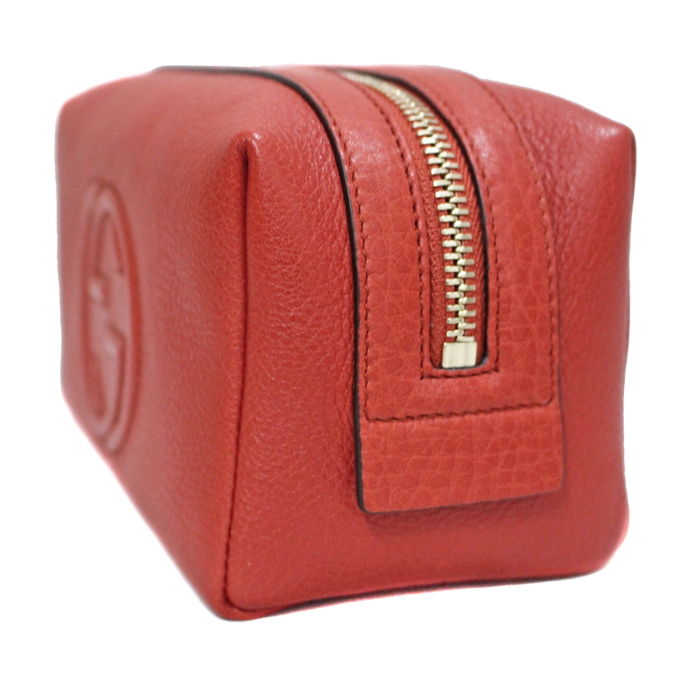 0280f43a3c0 GUCCI 308636 Fringe charm Soho Cosmetic pouch Pouch leather Women