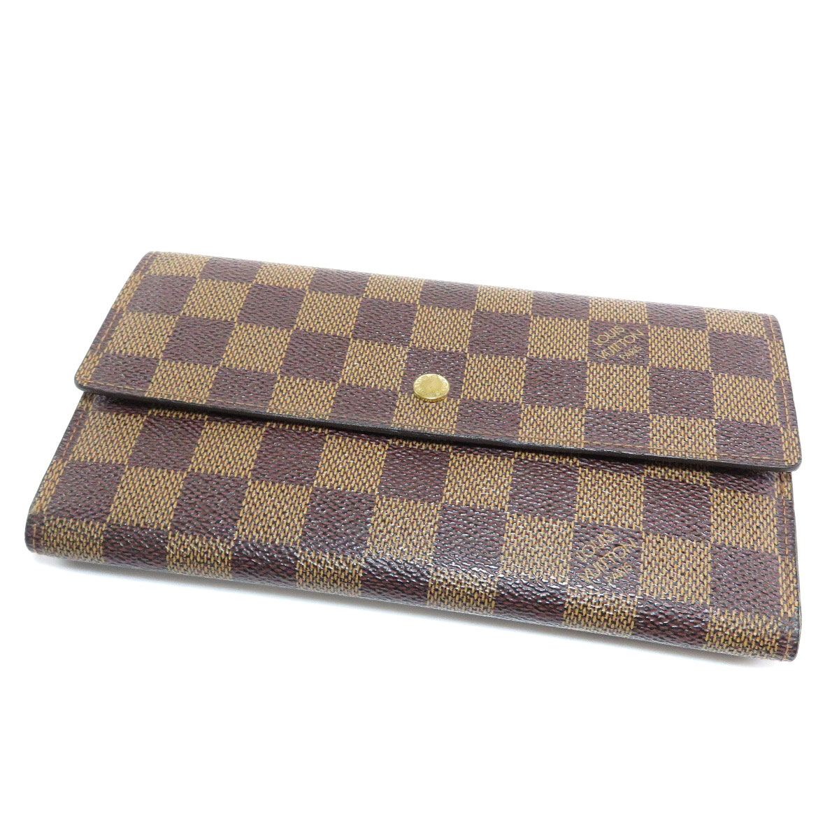 new concept 37566 3eb61 LOUIS VUITTON 【LOUIS VUITTON】 N61217 purse (with Coin Pocket) Damier Canvas  Ladies ー The best place to buy Brand Bags Watches Jewelry, Brand Bargain