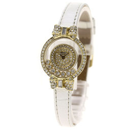 Chopard【ショパール】 腕時計 K18イエローゴールド/革/革 レディース