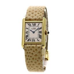 CARTIER【カルティエ】 腕時計 シルバー925/革/革 レディース