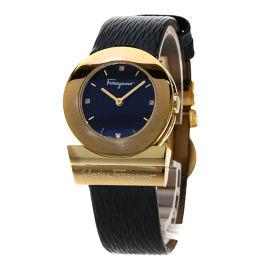 Salvatore Ferragamo【サルヴァトーレフェラガモ】 F56 腕時計 GP/革/革 レディース