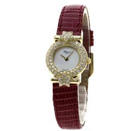 Chopard【ショパール】 13/6275 腕時計 K18イエローゴールド/リザード/リザードダイヤモンド レディース