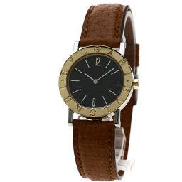 BVLGARI【ブルガリ】 BB30SGLD 7800 腕時計 ステンレススチール/革/革K18YG メンズ