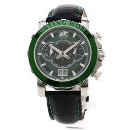 HUNTING WORLD【ハンティングワールド】 HW913GR 腕時計 ステンレススチール/革/革 メンズ