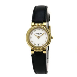 Christian Dior【クリスチャンディオール】 48.124 腕時計 GP/レザー/レザー レディース