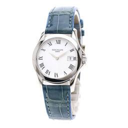 PATEK PHILIPPE【パテックフィリップ】 4906G 7586 腕時計 K18ホワイトゴールド/レザー/レザー レディース