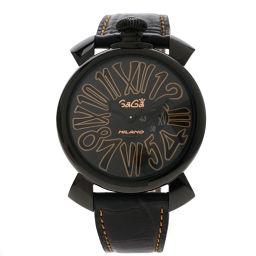 Gaga Milano【ガガ・ミラノ】 5086.1 腕時計 ステンレススチール/革/革 メンズ