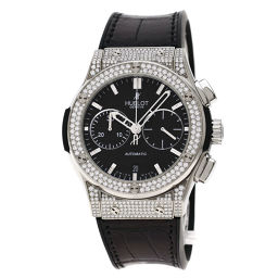 HUBLOT【ウブロ】 521.NX.1171.LR.1704 腕時計 チタン/アリゲーターラバー/アリゲーターラバーダイヤモンド メンズ