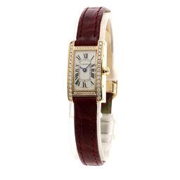 CARTIER【カルティエ】 WB710014 腕時計 K18ピンクゴールド/クロコダイル/クロコダイルダイヤモンド レディース