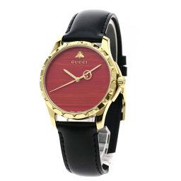 GUCCI【グッチ】 126.4 腕時計 GP/革/革 メンズ