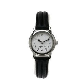 agnes b.【アニエスベー】 腕時計 ステンレススチール/革/革 レディース