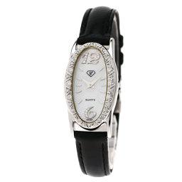CARATI【カラチ】 腕時計 K18ホワイトゴールド/革/革ダイヤモンド レディース