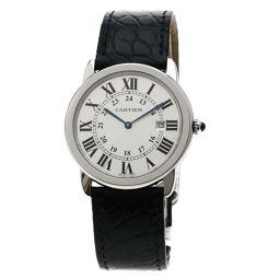 CARTIER【カルティエ】 W6700255 腕時計 ステンレススチール/革/革 メンズ