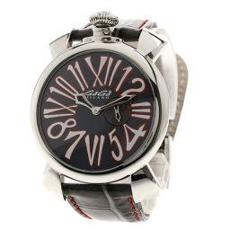 Gaga Milano【ガガ・ミラノ】 5084 腕時計 ステンレススチール/革/革 メンズ