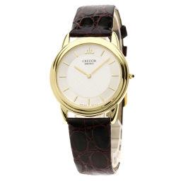 SEIKO【セイコー】 8J80-0720 7626 腕時計 K18イエローゴールド/革/革 メンズ