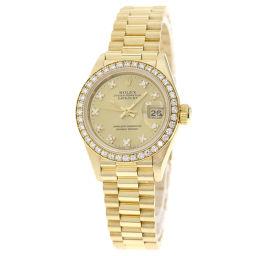 ROLEX【ロレックス】 69138G 腕時計 K18イエローゴールド/K18YG/K18YGダイヤモンド レディース