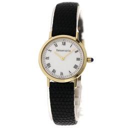 TIFFANY&Co.【ティファニー】 腕時計 K18イエローゴールド/リザード/リザード レディース