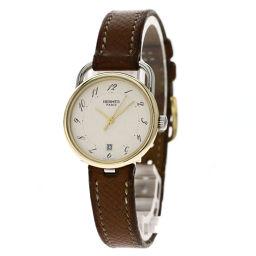 HERMES【エルメス】 7519 腕時計 GP/革/革 レディース