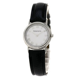 TIFFANY&Co.【ティファニー】 7607 腕時計 ステンレススチール/革/革 レディース