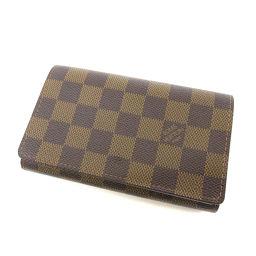 LOUIS VUITTON【ルイ・ヴィトン】 M61736 二つ折り財布(小銭入れあり) ダミエキャンバス レディース