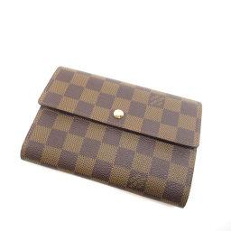 LOUIS VUITTON【ルイ・ヴィトン】 N61202 二つ折り財布(小銭入れあり) ダミエキャンバス レディース