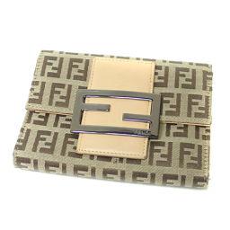 FENDI【フェンディ】 二つ折り財布(小銭入れあり) キャンバス レディース